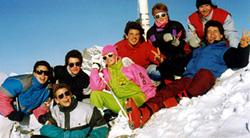 Sek-Skilager 1988: Modernste Skibekleidung!