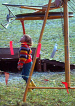 Miniblöker mit Pony-Skilift auf der Sissacher Fluh, Winter 1976 (klicken für grössere Fassung)