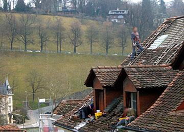 Einsatz über den Dächern der Unteren Altstadt: Whow!