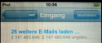 25 weitere von 2 Milliarden laden...? (iPod Touch, April 2008)