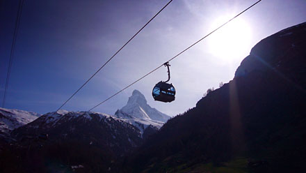 Matterhorn, Gondelbahn - wunderbarer Mai-Start 2008. Klicken für mehr Fotos!