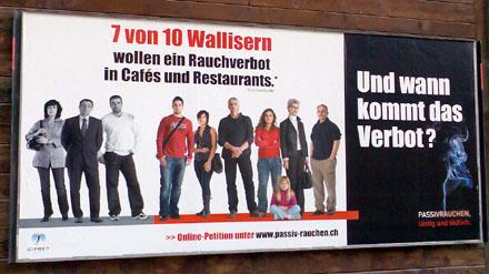 Walliser für Rauchverbot: Gut so - jetzt aber dalli! (Zermatt, Mai 2008)