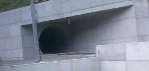 Lötschberg-Basistunnel, Südportal (Mai 2008)