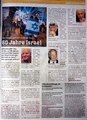 Netter Hintergrund zu Israel (heute, 10.5.08)