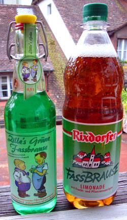 Zweierlei Fassbrause: Die rechts schmeckt besser... (Mai 2008)