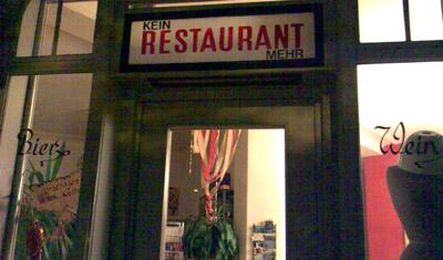 Kein Restaurant mehr (Mai 2008, Heinrichstrasse, Zürich)