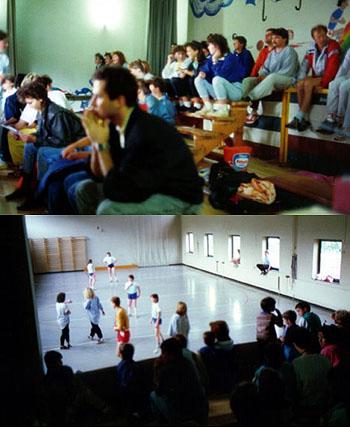 Itinger Dorf-Grümpelturnier im Juni 1988 - wegen Regens in der alten Turnhalle