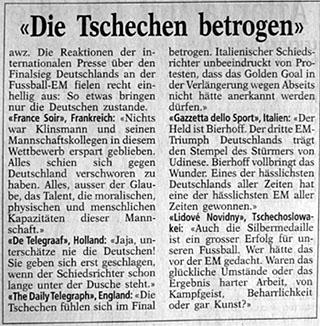 Vernichtende Kritiken - Bund vom 2. Juli 1996