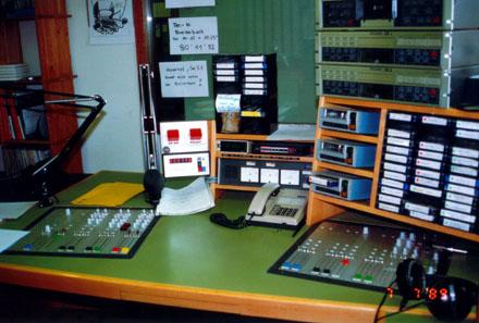 Studio 1 von Radio Raurach in Sissach, Juli 1989 - klicken für grössere Fassung