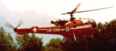 Der Untervazer Rega-Heli im Sommer 1984: Alouette III HB-XNN