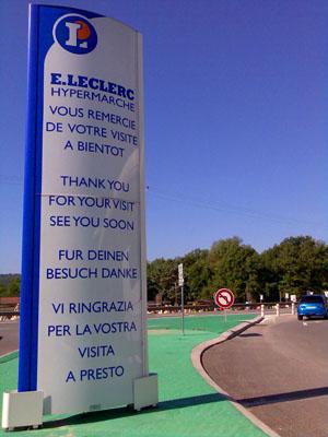 Fur Deinen Besuch danke! (Leclerc Montauroux, Juli 2008)