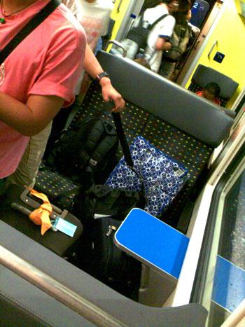 Japaner versuchen, in der Schweiz Zug zu fahren (Juli 2008)