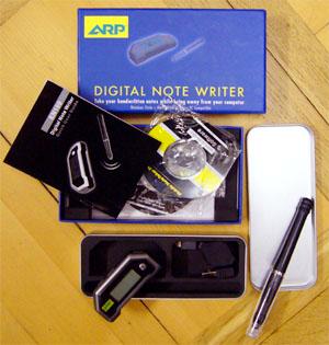 Digital Note Writer von ARP: Die Softwareinstallation war problemlos, der Stift hat auswechselbare Stanard-Kuli-Minen
