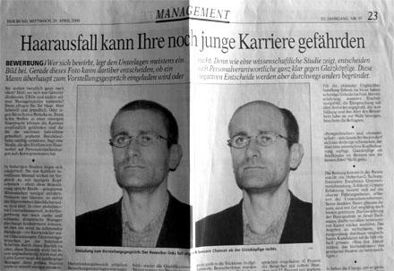 Der spätere Regierungsrat Christoph Neuhaus steht in einem seiner BUND-Artikel (April 2000) gleich selbst Modell...