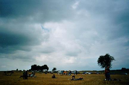 Sonnenfinsternis 1999 im Elsass: Zuerst auch Wolken...