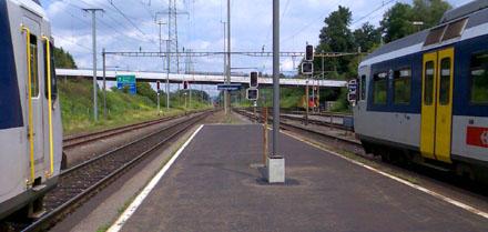 Bahnhof Othmarsingen, August 2008
