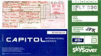 Capitol Airways: Ticket und Boardingpass von 1982 - klicken für grössere Fassung