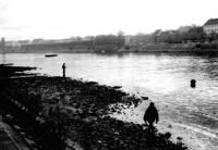 Ausgetrockneter Rhein, 5.11.1985 (Klick)
