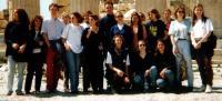Gruppenbild auf der Akropolis (FEJS-Treffen in Athen, Ende März 1996 - Klick)