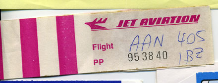 Baggage Claim, ZRH-IBZ mit AAN 405, 23. Juli 1988